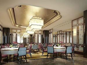 中式风格五星级酒店餐厅装修效果图