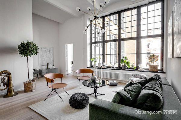 87平米北欧风格简约自然三室两厅室内装修效果图
