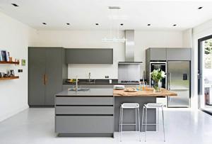 现代风格时尚灰色系厨房装修效果图大全