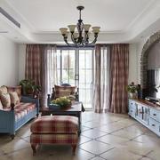 地中海风格时尚创意客厅设计装修效果图