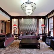东南亚风格大户型精致客厅设计装修效果图
