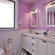 欧式风格清新精致卫生间浴室柜装修效果图