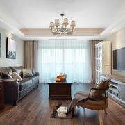 美式风格粗狂精致客厅设计装修效果图赏析