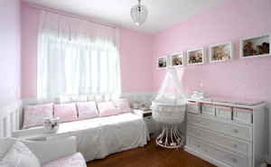 欧式风格甜美粉色儿童房装修效果图欣赏