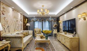 欧式风格古典雅致客厅设计装修效果图赏析