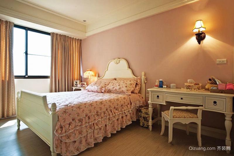 欧式田园风格甜美卧室装修效果图赏析