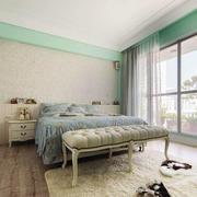 30平米清新风格时尚卧室装修效果图鉴赏
