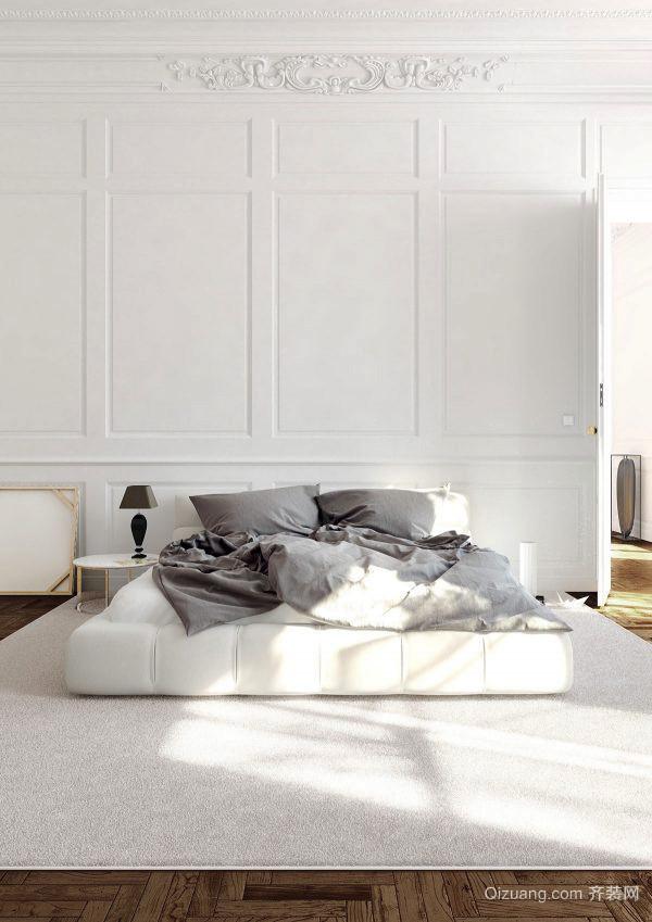 现代简约风格白色精美卧室装修效果图大全