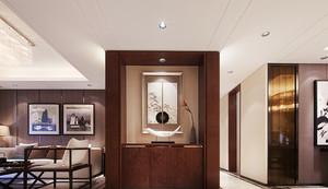 154平米新中式风格古典精致大户型室内装修效果图
