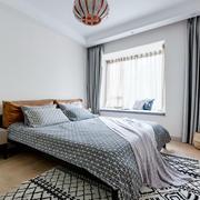 宜家风格简约温馨卧室飘窗设计装修效果图