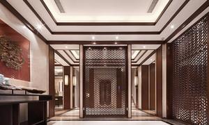 360平米中式风格古典精致别墅室内装修效果图案例