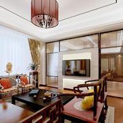 中式风格古典精致客厅设计装修效果图赏析