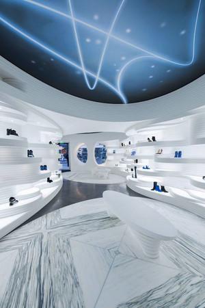 现代简约风格时尚鞋店设计装修效果图
