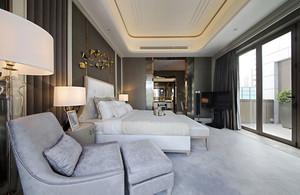 简欧风格精致五星级酒店客房装修效果图