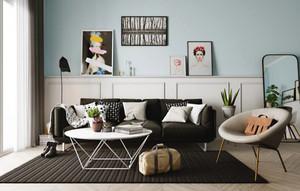 80平米北欧风格简约室内装修效果图案例