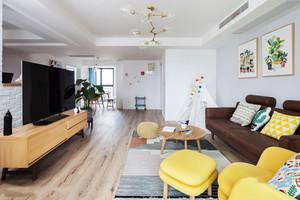 北欧风格简约自然随意客厅设计装修效果图赏析