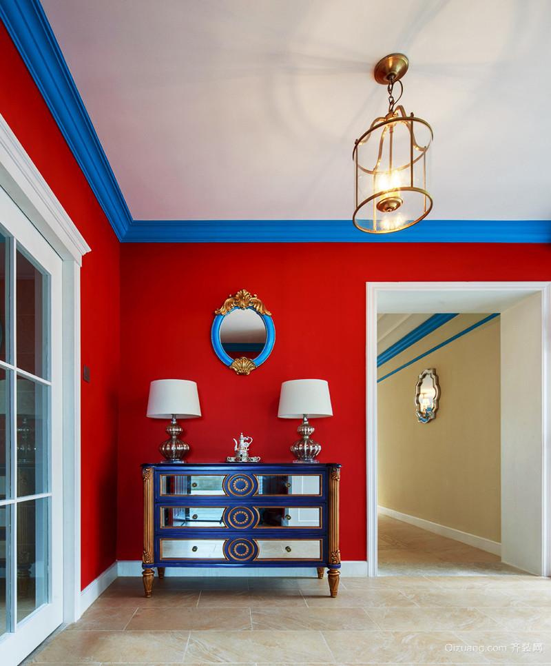 地中海风格混搭风格精致三室两厅室内装修效果图