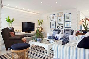 地中海风格精美客厅照片墙装修效果图赏析