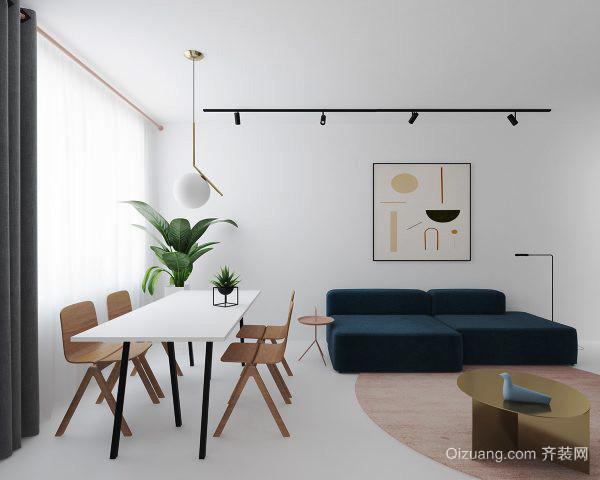 72平米现代简约风格公寓装修效果图赏析