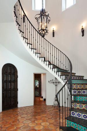 混搭风格时尚楼梯设计装修效果图赏析