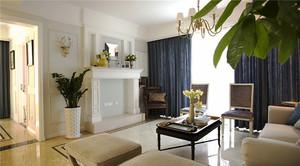 116平米简欧风格温馨浅色两室两厅室内装修效果图