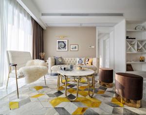 简欧风格温馨时尚客厅设计装修效果图