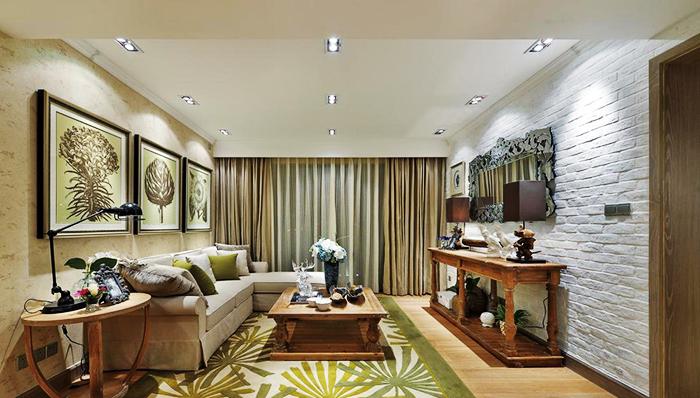 120平米欧式风格恬静浅色室内装修效果图赏析