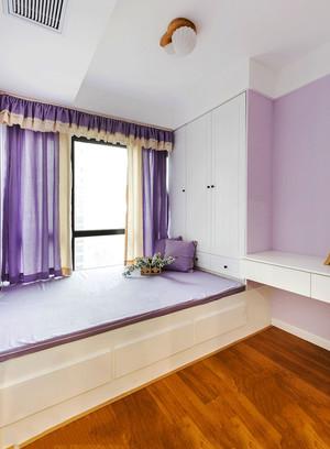 欧式风格紫色时尚榻榻米卧室装修效果图