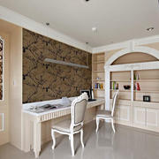 欧式风格精致别墅书房设计装修效果图
