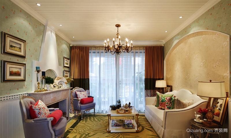欧式田园风格精美三室两厅室内装修实景图赏析