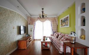 欧式田园风格客厅设计装修实景图赏析