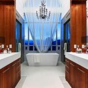 欧式风格别墅室内卫生间装修效果图鉴赏