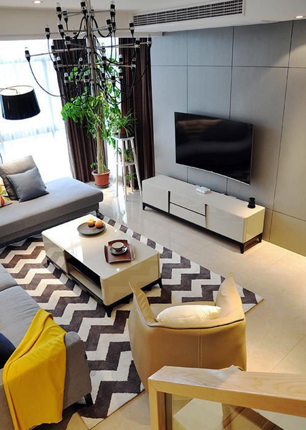 180平米现代简约风格时尚复式楼室内装修效果图