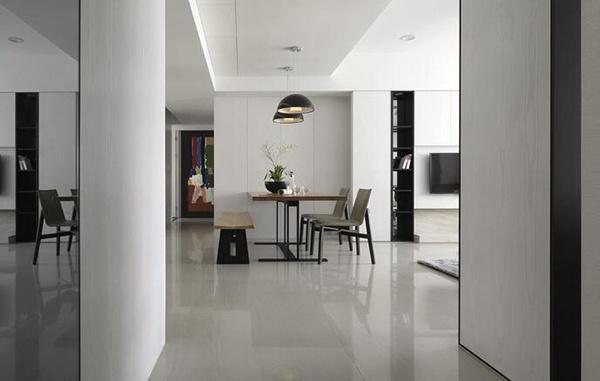 现代简约风格精致两室两厅室内装修效果图赏析