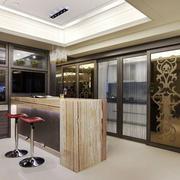 现代风格精致酒柜吧台设计装修效果图欣赏