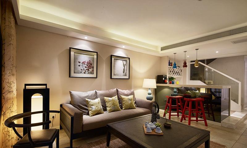 176平米新中式风格复式楼室内装修效果图赏析
