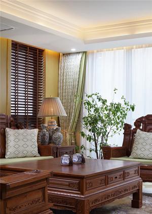 220平米中式风格别墅室内装修效果图案例