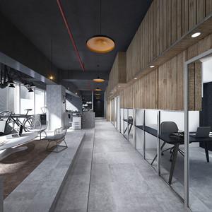 97平米现代风格办公室设计装修效果图