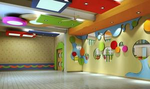 67平米现代简约风格幼儿园教室室内装修效果图