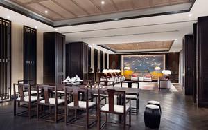 中式风格五星级酒店会客厅装修效果图
