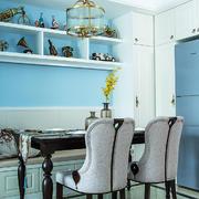 美式风格室内精美餐厅卡座设计装修效果图赏析