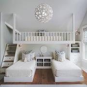 欧式风格精美双层床儿童房设计装修效果图