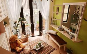 104平米欧式田园风格两室两厅室内装修效果图