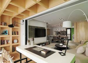 109平米清新风格简约三室两厅两卫装修效果图