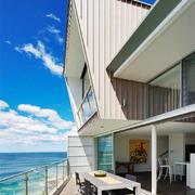 现代风格别墅室内露天阳台设计装修效果图