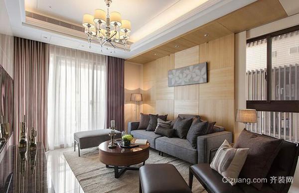 122平米现代简约风格温馨三室两厅室内装修效果图