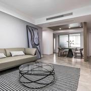 现代风格简约大户型客厅设计装修实景图