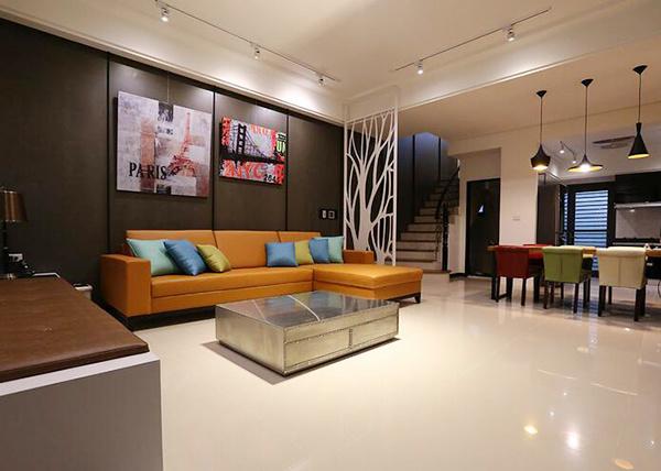 155平米现代简约风格时尚复式楼室内装修效果图
