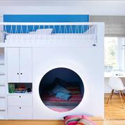 现代简约风格清新蓝色儿童房设计装修效果图