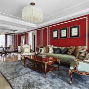新古典主义风格大户型华丽客厅设计装修效果图